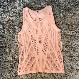 90 degree by reflect pink cut out tank top shirt